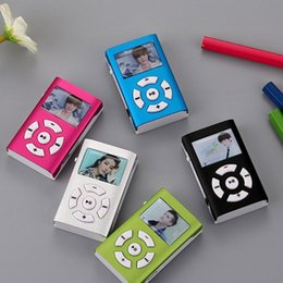 Wholesale & MP4 Players Portable MP3 Player Metal Clip Mini USB Digital Music LCD Screen Support 32GB Micro SD TF Card Slot