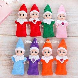 10 stücke Weihnachten Baby Elf Puppen Baby Elfen Spielzeug Mini Elf Weihnachten Dekoration Puppe Kinder Spielzeug Geschenke kleine Puppen im Angebot