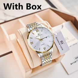 HARBOR VIEW Mens Watches High-end Business Simple Quartz Watch 30M Waterproof Complete Calendar Bow Buckle Steel Strap Watch For Men