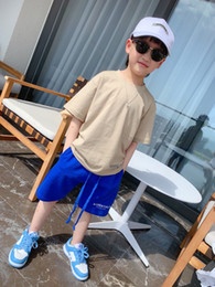 Wholesale 2021 Kids Boy Short pants summer Baby boys pants children Fashion handsome Casual tee Trousers tops