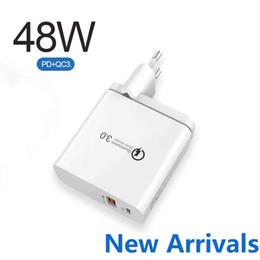 48W PD-Ladegerät 30W PD-Ladeanschluss 18W QC 3.0-Port-Ladegerät 2-Ports Ladegerät UK / US / EU-Plug im Angebot