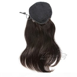 Wholesale Silky Straight Drawstring Ponytail #1B #Silver European Indian human Hair single donor Blonde remy Virgin extension 100g 120g 140g 160g