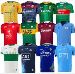 2018 2019 Ireland GAA rugby jerseys TIPPERARY GALWAY DUBLIN rugby shirts KERRY TYRONE MAYO MEATH rugby jersey home away 2020 2021 S-3XL top on Sale