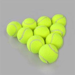 Toptan satış Yeni Açık Spor Eğitim Sarı Tenis Topları Turnuva Açık Eğlenceli Kriket Plaj Köpek Spor Eğitim Tenis Topu 234 W2