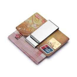 bill cash UK - Money Money Pocket Metal Bill Clips Layer Wallet Unisex Stainless Steel Sided Double Holder Card Double Credit New Cash Clamp Jtpim