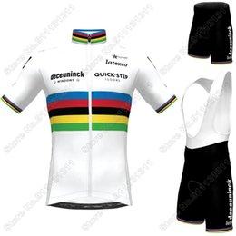 Wholesale World Quick Step Cycling Clothing Julian Alaphilippe Cycling Jersey Set Road Bike Suit Bib Shorts Maillot Cyclisme
