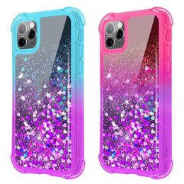 casos do telefone da galáxia do brilho venda por atacado-Para Samsung S21 Ultra Case Glitter Quicksand Liquid Cell Capas Celulares Sparkle Shiny Bling Diamante Capa protetora compatível com Galaxy Note Plus