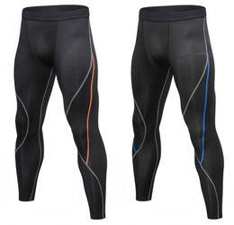 Fitness Masculino Baloncesto Correr Pantalones Pantalones de compresión Elástica Pantalones rápidos Deportes Apretado siete puntos MA42 311 x2 en venta