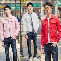 Wholesale boys slim denim jacket for sale - Group buy Summer Holed Denim Jacket Men s Korean Slim Fit Young Student Lapel Coat Casual Boys Fashion Top