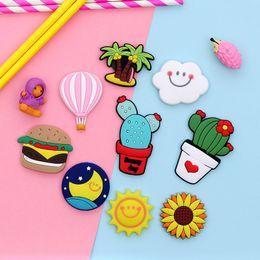 Toptan satış Buzdolabı Karton Mıknatıslar PVC Renkli Mıknatıs Sticker Plastik Refrigeator 3D Sevimli Sticker Ev Mobilya Süslemeleri DHL