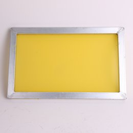 Wholesale silk screen prints for sale - Group buy Aluminium cm Screen Printing Frame Stretched With White T Silk Print Polyester Yellow Mesh for Printed Circuit Board V2