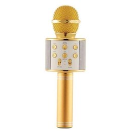 android phone microphone UK - Handheld Wireless Bluetooth Microphone KTV Karaoke Microphone with Speaker for Android Phone Computer Karaoke