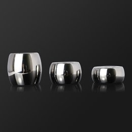 Wholesale 2021 cockrings OVAL BALL STRETCHERS Stainless steel l Scrotum Pendant Testis Weight penis Restraint Lock Ring SEX TOY ADULT TOYS 3 Size 450g 600g 960g