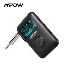 MPOW BH408 Bluetooth беспроводной музыкальный приемник Bluetooth 5.0 аудио ресивер дисплей экран 3D объемный звук для автомобиля дома стерео на Распродаже