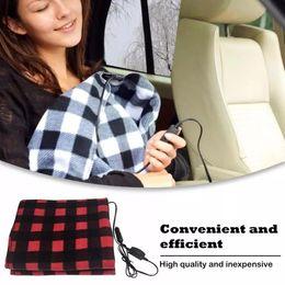145*100cm New 12V Car Heating Blanket Fleece Energy Saving Warm Autumn Winter Electric Heating Blanket Constant Temperature on Sale