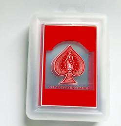 Cartes à jeu claires 20fw Vélo Clear Clear Card Carte de jeu Transparent givré Jouet Toy Etanche Poker en Solde