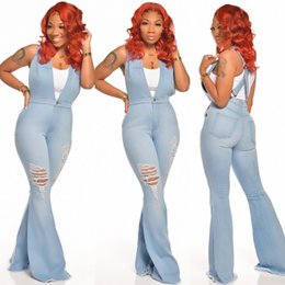 Wholesale sexy overalls sale for sale - Group buy Fashion Women s jeans Hot Sale Fashion sexy Style Overalls jeans Women summer Outfits Women Flared jumpsuit pants