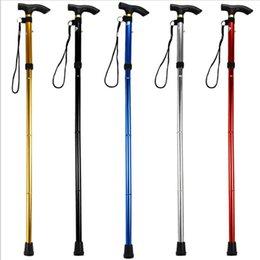 Wholesale Design Adjustable Aluminum Alloy Metal Folding Cane Walking Sticks Adjustable Height and Non Slip Rubber Base Walking Stick 20 Z2
