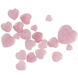 Wholesale drawing roses for sale - Group buy Gemstones Natural Rose Quartz Crystals Love Puffy Beautiful Heart Shaped Stone Love Healing Crystal Gemstone Products OWD5206