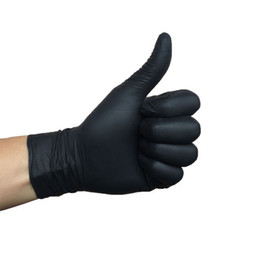 Thickened A-class disposable black NBR latex rubber tattoo gloves anti oil and anti slip repair gloves on Sale