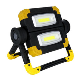 Wholesale 150W NEW Work Lamp USB Rechargeable Outdoor Portable Searchlight Camping Light Double Head COB Anti-fall Flood Campe Spotlight