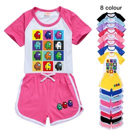 Discount boys watermelon t shirt 8 colors 2pcs set 100-170 cm Boys and Girls Short Sleeve T-shirt + Shorts-Children's Leisure Sports Suit 850 Baby, Kids Clothing Sets