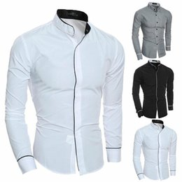 smart casual fashion men 2021 - Fashion New Men Luxury Smart Casual Formal Shirt Blouses Long Sleeve Slim Pure Colors Fit Business Shirts Tops Tee