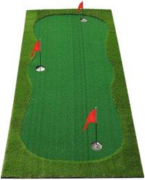 Putting Green Mat-Golf Training Aids- Professional Golf Practice Mat- Green Long Challenging Putter for Indoor Outdoor
