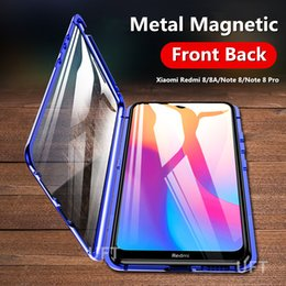 Wholesale redmi note 8 for sale - Group buy 360 Double Sided Glass Case For Xiaomi Redmi note Pro Magnetic Metal Bumper Back Cover Redmi Note Pro a Note8t Note8 Cases