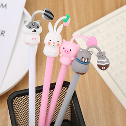 Cute Cat's Happiness Life Gel Pen Rollerball Pen School Office Gift Supply Student Stationery 0.5mm Black Ink 0032 on Sale