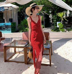 bali cotton NZ - dresses Bali holiday seaside beach show thin sexy open back suspender skirt long dress female