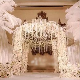 wedding arch white flowers UK - Artificial Flower Hydrangea Wisteria Flowers Vines Wedding Upscale Arch Marrige Party Garlands Floral Decoration Rattan ss