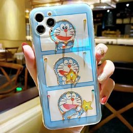 ingrosso iphone casi doraemon-Custodia per iPhone per Pro Max X XS Plus TPU Cassa del telefono Cartoon Doraemon Huawei P40