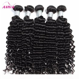 Wholesale jerry cans resale online - Brazilian Deep curly Virgin Hair Weaves Natural Color Jerry Curly Human Hair Extensions Bundles Can be dyed