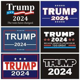 Опт 2024 Трамп наклейки на автомобиль 2024 США президентская кампания Campaign Trump Sticker 14.8 * 21 см PVC Теги Трамп 2024 Автомобильный наклейка наклейки на бампер