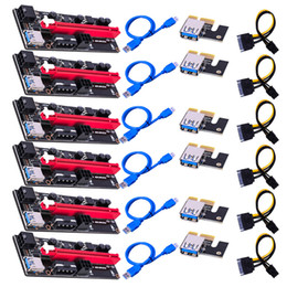 VER009 USB3.0 PCI-E Riser VER 009S Express 1X 4x 8x 16x Extender Riser Adapter Card SATA 15pin to 6 pin Power Cable on Sale