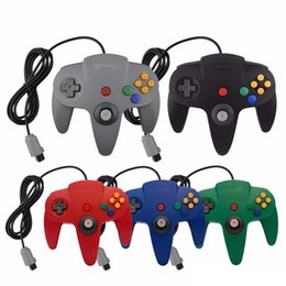 Wholesale Classic Retro Wired Gamepad Joystick for N64 controller Game Console Analog gaming Joypad