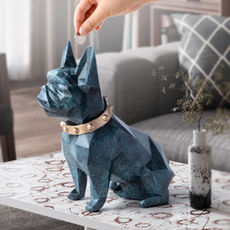 plastic dog banks 2021 - french bulldog coin bank box piggy bank figurine home decorations coin storage box holder toy child gift money box dog for kids