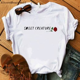 harry styles shirts UK - 2020 Harry Styles T Shirt Women Casual sweet creature rose Print Tshirt Harajuku Fashion T-shirt Summer Short Sleeve Top Tees C0302