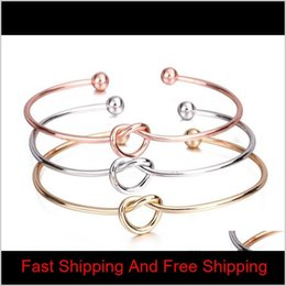 cheap bracelets for wholesale 2021 - Europe And The United States Jewelry Simple Wind Bracelet Personalized Knot Bangle Bracelet Tie Bangle For Women Girls Cheap Wholesale 0Ldgy