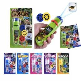 DHL LED Puzzle d'interaction parent-enfant Puzzle Education top Education Jouet Lumineux Animal Dinosaure Child Slide Lampe de projection pour enfants Jouets de projection enfants en Solde