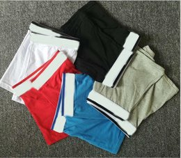 Wholesale men briefs for sale - Group buy 5pcs New Mens Boxer Underwear Shorts Fashion Sexy Underwear Short Man Breathable Male Gay Calzoncillo Boxer Brief Short No Box