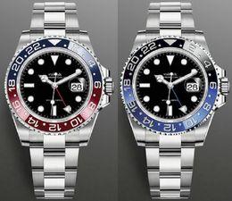 Moda GMT Cerâmica Bezel Relógios Mens Mecânica SS Automático 2813 Movimento Assista Esportes Homens Luxurys Designers relógios de pulso relógio de pulso em Promoção