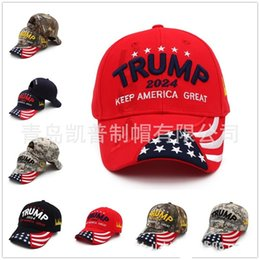 U.S 2024 Trump Presidential Election Presidential Election Cap Trump Hat Baseball Cap Adjustable Speed Rebound Cotton Sports Cap 397 X2 on Sale