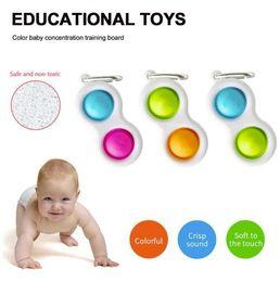 DHL Baby Fidget Простые DIMPLE сенсорные игрушки силиконовые переворачивание доска мозга Teasers лучшие подарки образовательные игрушки для детей и взрослых на Распродаже