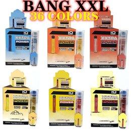 venda por atacado Cigarros Bang XXL Rápido Navio 36 Cores Pacote Descartável Vape Kit Plus XL Puff Air Bar Fluxo 2000 Puffs 6ml Capacidade Bateria Vaporizador