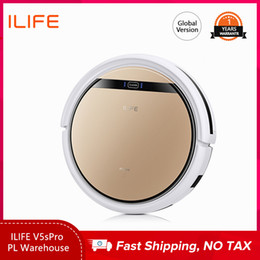 ILIFE V5sPro Robot Vacuum Cleaner Vacuum Wet Mopping Pet hair and Hard Floor automatic Powerful Suction Ultra Thin on Sale