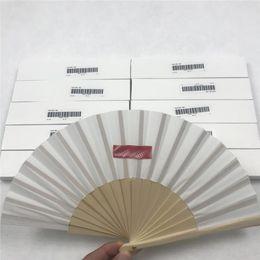 Wholesale Folding fan Outdoor paper fan cloth Hand Fan DIY Performance Dance Props Fine Art Hand Painting Fans