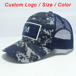 plain trucker caps Australia - Camo cap army hat camouflage color tennis sport football baseball beach sun headwear custom snap mesh back trucker hat Q0305