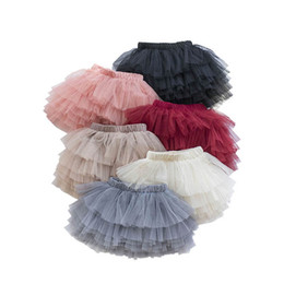 baby ball clothing 2021 - Girls Skirts Tutu Skirts Kids Skirt Lace Tiered Skirts 6 Color Spring Summer Kids Dress Princess Shorts Skirt Baby Cloth